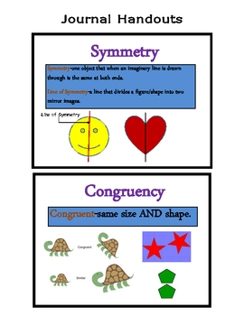 Elementary Congruency & Symmetry Packet (JAM-PACKED!)