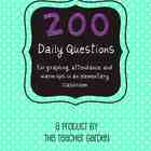 Elementary Daily Questions for Graphing, Attendance, Warm-