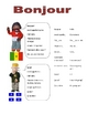 Elementary (FLES) French Greeting Packet (7 Pages)