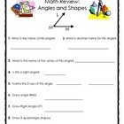 Elementary Geomentry Review: Angles, Shapes and Perpendicu