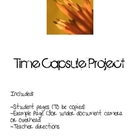 Elementary/ Intermediate Grade Time Capsule Activity