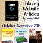 Elementary Library Website Posts October-November