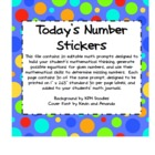 Elementary Math Journal Editable Stickers &amp; Task Cards