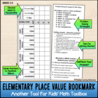Elementary Place-Value Problem-Solving Math Bookmark