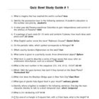 Elementary Quiz Bowl - Study Guide #1