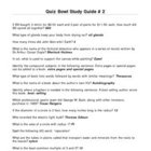 Elementary Quiz Bowl - Study Guide #2