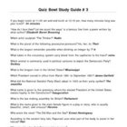 Elementary Quiz Bowl - Study Guide #3