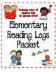 Elementary Reading Logs Packet (Includes Reading Log Tic-T