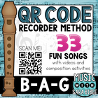 "Elementary Recorder Method with QR Codes ""Think 'QR' Ready"
