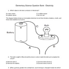 Elementary Science Question Bank - Electricity (4 - 6)