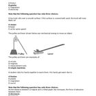 Elementary Science Question Bank - Force and Motion (4 - 7)