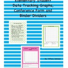 Elementary Student Data Tracking Graphs, Conference Form a