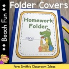 Elementary Work Folders / Daily Folders Covers ~ Beach The