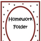 Elementary Work Folders / Daily Folders Covers ~ Cat / Kit
