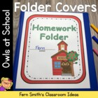 Elementary Work Folders / Daily Folders Covers ~ Owl Theme