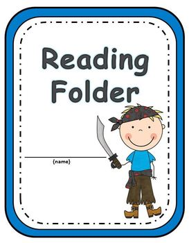 Elementary Work Folders / Daily Folders Covers ~ Pirate Bo