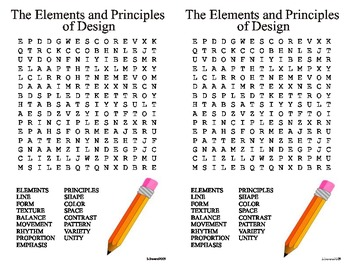Elements and Principles of Design Word Search