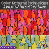 Color Schemes Name Tag
