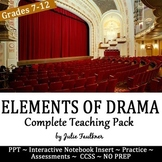 Elements of Drama Power Point Lesson Lecture Teaching Pack Lesson