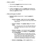 Elements of Fiction: Conflict Guided Notes