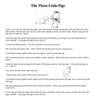 Elements of Fiction: Point of View Three Little Pigs Plus
