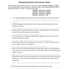Elements of Fiction: Recognizing Conflict Practice Sheet