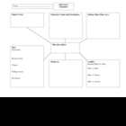 Elements of Fiction: Short Story Graphic Organizer