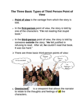 Elements of Fiction: Three Types of Third Person Point of