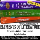 "Elements of Literature Terms ""I Have...Who Has"" Test Prep"