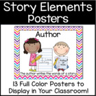 Elements of a Story &amp; Author/Illustrator Poster Pack