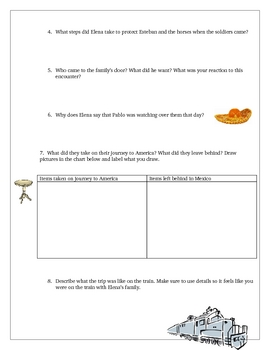 Elena Reading Comprehension Questions Activities Common Core