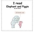 Elephant and Piggie (Mo Willems) Book Report/Review