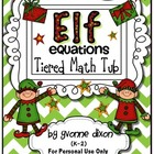 Elf Equations Tiered Math Tub