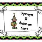 Elf Synonym/Antonym Sort