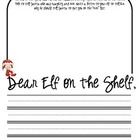 Elf on the Shelf Writing Prompt {Freebie}