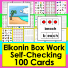 Elkonin Boxes Segmenting Center Activities - 100 Self-Corr