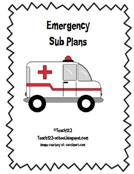 Emergency Sub Plans Kit