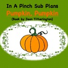 Emergency Substitute Lesson Plans- Kindergarten (Pumpkin,
