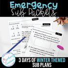 Emergency Substitute Teacher Packets Days 1-3 Winter Theme