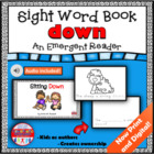 Emergent Reader Dolch Sight Word Coloring Book - DOWN
