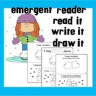 Emergent Reader, Read it, Write it, Draw it!  'Snow Day'