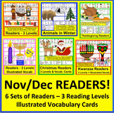 Emergent Readers {BUNDLE VALUE} for Nov & Dec-6 Sets-3 Rdg.Levels