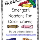Emergent Readers for Color Words ~ Bundle!