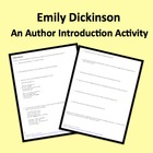 Emily Dickinson Introduction Handout Activity w/Poem Analysis