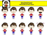 Emotions Clipart - Boy Version - 10 PNG Files for Personal