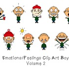 Emotions Feelings Clip Art (Boys) Volume 2