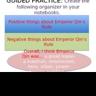 Emperor Qin PowerPoint