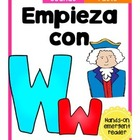 Empieza con Ww {Cut & Paste Emergent Reader}