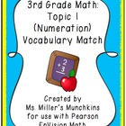 EnVision Topic 1 Vocabulary Match