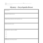 Encyclopedia Brown Mystery Chart